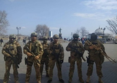 The Security Service of Ukraine, special forces and the police took to the streets of Ukraine to ensure a calm vote.