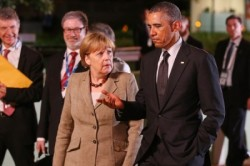 Merkel and Obama play good cop, bad cop
